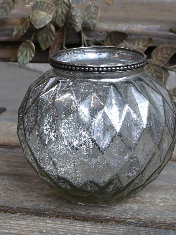 Vase mit Perlenkante Raute